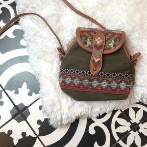 Handbags - Mini Boho Tribal Embroidered Crossbody Bag